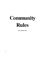 Community Rules Revised March 2012