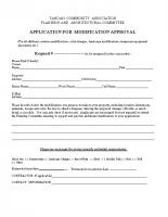 TCA Application for Modification